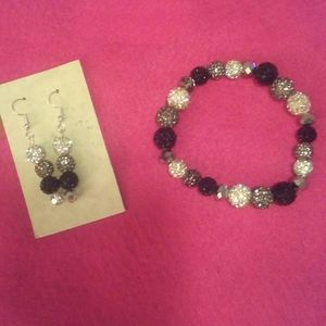 Hand crafted earring/bracelet set